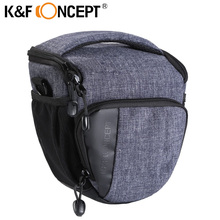 K&F CONCEPT Waterproof Camera Messenger Bag Blackgrey Small Size Morden Travelling with  Rain Cover Hold fit for 1 Camera+Lens