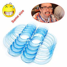 10 Pcs 3 Sizes CType Mouth Opener Cheek Retractor Teeth Whitening Dental Clear 2 colors(China)