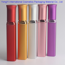 JP-04 12ML 100Pcs aluminum tube mouth red perfume glass empty spray on the circle under the four aluminum tube cosmetic bottles(China)