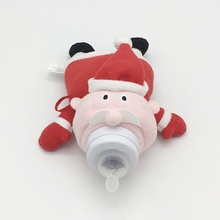 Baby Feeding Bottle Cover Holder Insulation Bag Santa Claus Stuffed Plush Toy Thermal Bag for Baby Bottle Holder Christmas Gift(China)