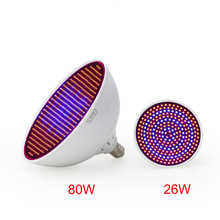 80W/ 26W Led Grow Light  AC85-265V E27 Red/Blue  800 Leds Hydroponic LED Plant Indor Grow Lights LED Bulb LED Growth Lamp