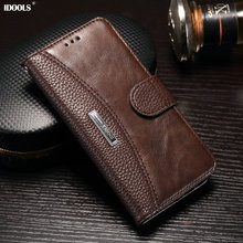 Case For Samsung Galaxy J7 2017 J730F EU Version Vintage PU Leather Wallet Cover Phone Bags Cases For Samsung J7 2017 IDOOLS 5.5(China)