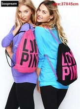 vs love pink men bag backpack 3D printing travel softback Women mochila drawstring tote Girls harajuku cotton Backpacks