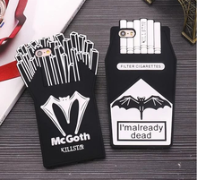 3D Fashion cartoon hero bat french fries love skull smoking cigarette Box cell phones case For iPhone SE 5S 5C 6 6S 7 Plus Cover