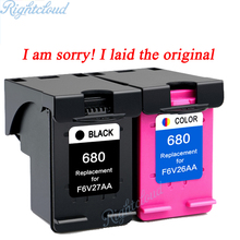 Hot 2Pk For HP 680 Ink Cartridge For HP Deskjet 3835 2135 3635 2136 2138 3636 4535 4536 4538 4675 Printer cheap ink cartridge(China)