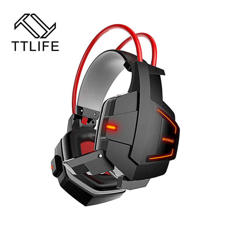 TTLIFE New Ghost Fashion Stereo Glow PC Gaming Headphones Gamer Headset Headband Casque Audio With Mic Volume Control LED Light<br><br>Aliexpress