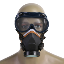 2pcs Pro Dust Mask Single Tank Dust Mask with eye mask Full Face dust mask (PVC TPR)(China)