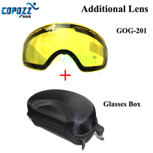COPOZZ Brand Double Brightening Lens Ski Goggles Model Number GOG-201 Increase The Brightnes Cloudy Night To Use With Mirror Box