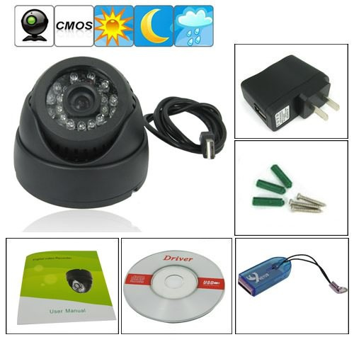 Dome 1/4 Inch CMOS CCTV Camera Digital Video Recorder Support TF Card<br><br>Aliexpress
