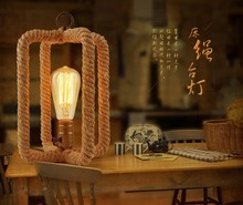 Retro bedlamp creative personality bedroom restaurant bar coffee rope lamp GY52