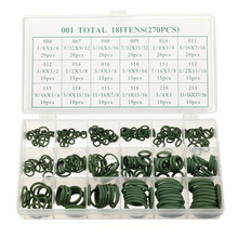 270 Pcs 18 Sizes Assortment Kit Air Conditioning HNBR O Rings Set Car GREEN(China)
