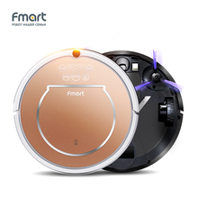 Fmart Robotic Vacuum Cleaner With Self-Charge Wet Mopping for Wood Floor Double HEPA Filter Smart Vacuums Side Brushs E-R302G(S)