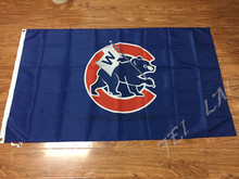 3x5ft Chicago Cubs Major League Baseball  pennant 90 * 150 CM  Sports Events banner decoration free shipping
