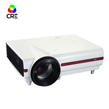 Cheap 3d ready 3500lumens high quality multimedia video projector,portable 1280*768 pixels HD 1080p LED home theater projector(China)