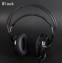 black Headset New Headphones Steelseries Siberia V2 Brand Noise Isolating Game Headphones For Headphone Gamer + Extension cord(China)