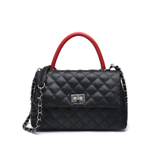 s.p.l. classic ladies handbag plaid chain women bag european and american fashion hasp solid litch shoulder and messenger bag(China)