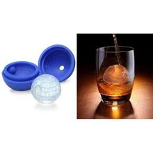 2pcs Silicone Ball Shaped Ice Cube Tray Whiskey Baking Chocolate Soap Mould Mold For Star Wars Lovers or Party Theme (Blue)
