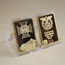 DEUTSCHE REICHSBANK GERMAN IRON CROSS 1 OZ 24K GOLD BAR 5pcs/lot free shipping