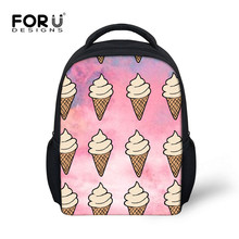 FORUDESIGNS Ice Cream Schoolbag Korean Style Backpack Toddler Girls Boys Small Kawaii Shoulder Book Bag for Kindergarten Hot New(China)