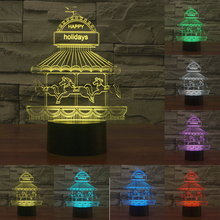 Children Amusement Park 7 color change Touch sensor USB LED Table lamp Baby Bedroom Night light for children Gift IY803568