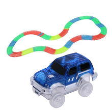 Children Roller Coaster Track Electronics Car Rail Car Toy DIY Assembly Small Train Set Electric Train Car Racing Track Toy