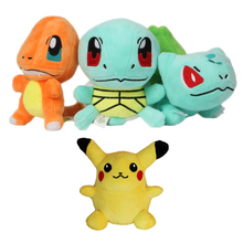"High Quality Pikachu Plush Toys 6"" 15cm Anime Bulbasaur Squirtle Charmander Soft Stuffed Plush Toys For Children Peluche Dolls"