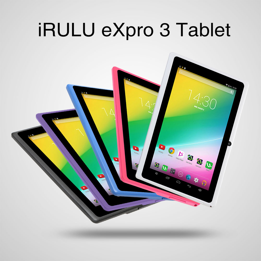 Original iRULU eXpro X3 7″ Tablet Android 6.0 Quad Core 16GB ROM 1GB RAM WIFI OTG 1024*600 HD Google APP Play With Keyboard