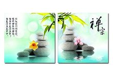 Spa Zen Stones with Flowers Modern Home Decor Pictures Prints on Canvas Wall Artwork Paintings Giclee Art Walls Decor Painting