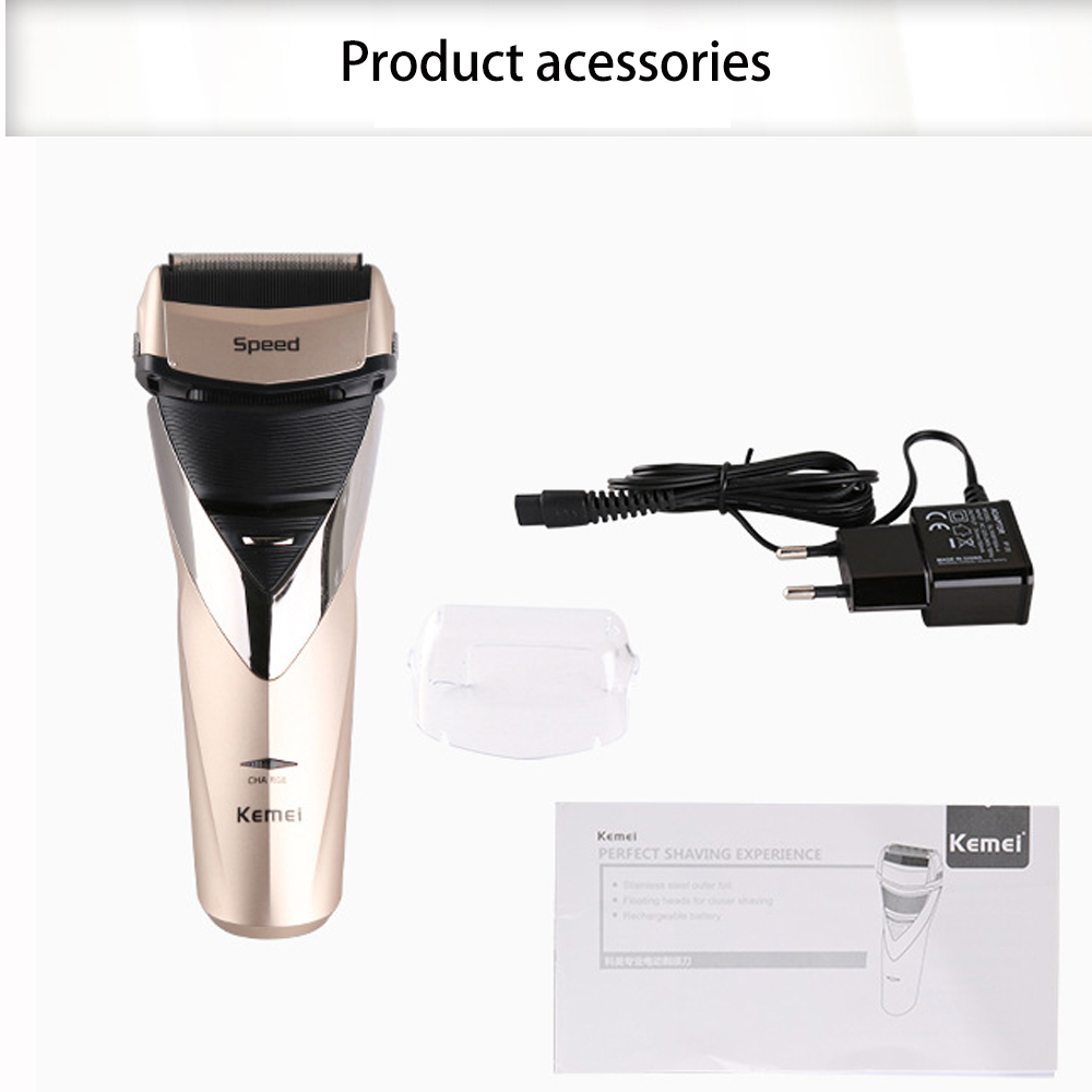 Kemei electric shaver rechargeable shaveing for man shavers body wash twin blade cutter head men face care Shaver razor KM-8102 9