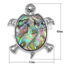 New Arrival Classical Natural Abalone shell Turtle Pendant Beads For women Fashion Jewelry(China)