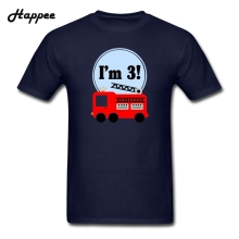 Simple Style Tshirt 3Rd Birthday Fire Truck Tee Men 100% Cotton Big Size Geek T Shirts Man Discount Short Sleeve T-Shirt XS-XXXL