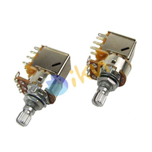 NEW 2pcs Push Pull Guitar Switch Pots Potentiometers Volume Control B250K Short Shaft