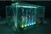 47CM 12 LEDs Aquarium Fish Tank LED Light Air Stone Bubble Submersible Water Underwater Air Curtain LED Lamp Bar Strip Lighting
