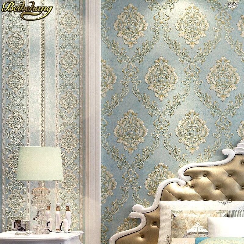 beibehang embossed bedroom wallpaper Modern damask wallpaper white wallcovering classic wall papers 3d wallpaper for living room<br>