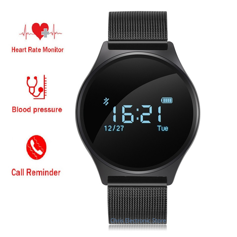 Original M7 Round Bluetooth Smart Watch Blood Pressure Heart Rate Monitor Sport Smart Wristband for Android IOS PK K88H<br>
