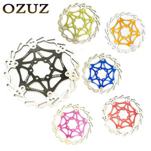 OZUZ Mountain Bike Brake Rotor 160mm 180mm 6 Bolt Floating Disc Brake Rotor Light Weight Alloy MTB Bicycle Float Rotors