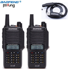2 Pcs Baofeng UV-XR 10W Power Dual Band 136-174/400-520MHz Waterproof Ham Two-Way Radio Walkie Talkie + Programming Cable