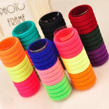 Random Color 50pcs/set Ultra High Elastic Rubber Band Hair Rope Hairband High Quality(China)