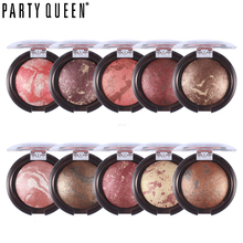 Party Queen Baked Bronzer Blush Palette Shimmer Highlight Powder Makeup Stardust-Multi Silky Smooth Mineral Face Blusher Make Up