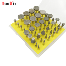 Toolfit 50pcs Diamond Grinding Burrs Mounted Points Rotary Tool Engraving Etching Abrasive Tool Dremel Accessories Dental Burs(China)