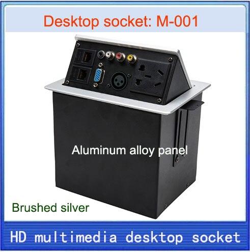 NEW Desktop socket /hidden multimedia information box outlet /network RJ45  XLR VIDEO AUDIO VGA interface desktop socket  M-001<br><br>Aliexpress
