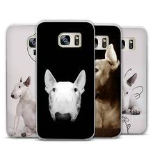 Bull Terrier bullterrier dog Transparent Phone Case Cover for Samsung Galaxy S3 S4 S5 S6 S7 S8 Edge Plus Mini