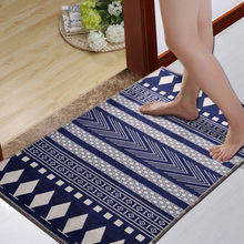 Vintage Geometric Striped Carpet European Classic Style Living Room Bedroom Tea Table Rugs Anit-slip Home Rectangle Floor Mat