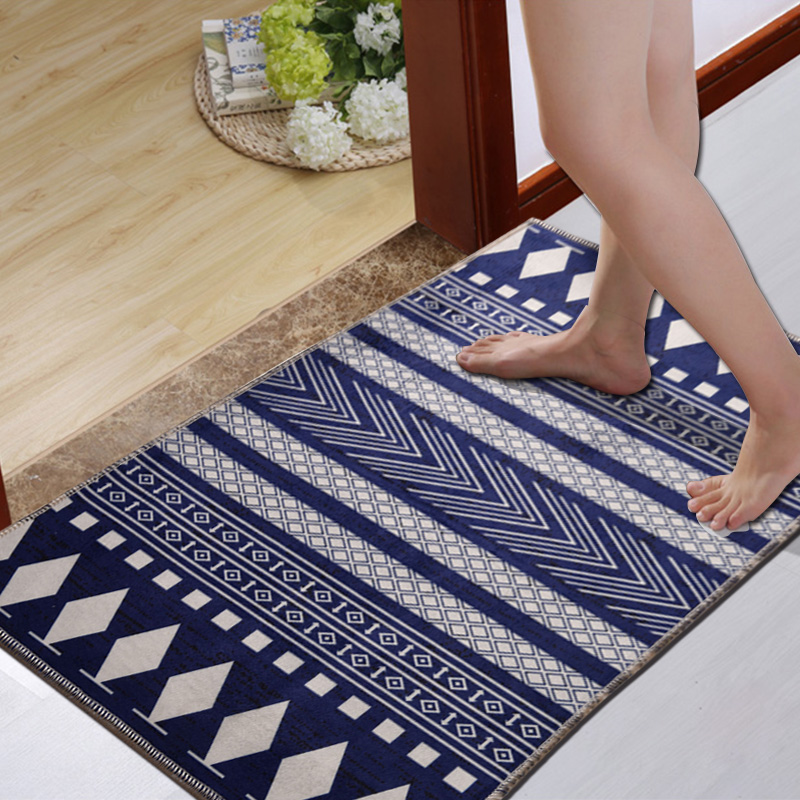 Vintage Geometric Striped Carpet European Classic Style Living Room Bedroom Tea Table Rugs Anit-slip Home Rectangle Floor Mat(China (Mainland))