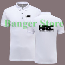 HRC motorcycle logo POLO shirt short sleeve overalls clothes for women and men