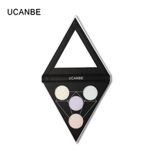 UCANBE Glow Kit Triangle Shimmer Highlighter Palette Flash Powder Face Bright Eye Shadow Highlight Light Illuminator Makeup(China)