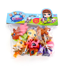 20pcs/bag 5cm cute lps toys little cat fish rabbit Dog fairy Lovely Pet shop animal action figure littlest doll Toy Gift For Kid