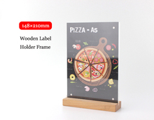A5 Wooden base Price banner Display Stand Tabel Sign menu list advertising poster frame holder rack(China)
