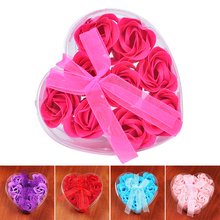 9Pcs Romantic Wedding Favor Shower Scented Bath Body Rose Soap Home Party Christmas Birthday Valentine's Day Gifts(China)