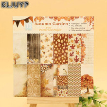 KLJUYP 24 Sheets Autumn Garden Scrapbooking Pads Paper Origami Art Background Paper Card Making DIY Scrapbook Paper Craft(China)